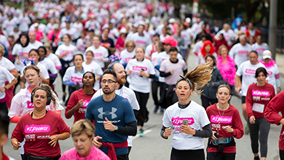 Runners at the CIBC run for the cure race